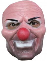 Fiese Clown Maske für Erwachsene Halloween rosa