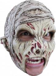 Mumien-Maske für Erwachsene Halloween weiss-rot-schwarz