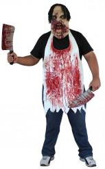 Metzgerschürz Halloween für Erwachsene