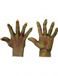 Grüne Monster-Handschuhe Erwachsene