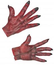 Teufel Rote Handschuhe für Erwachsene