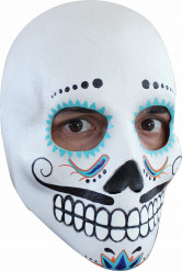 Dia de los Muertos Totenkopf-Maske mit Schnurrbart für Herren