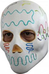 Weiße Dia de los Muertos Maske für Erwachsene