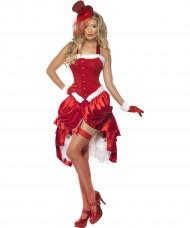 Heißes Cabaret Weihnachtsfrau-Kostüm für Damen