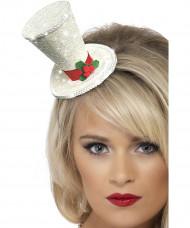 Mini-Hut Weihnachten weiß für Erwachsene