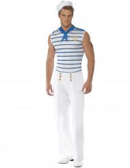 Seemanns-Kostüm für Herren weiss-blau