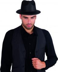 Schwarzer Gangster-Hut für Erwachsene