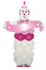 Rosa Clown-Ballon-Set