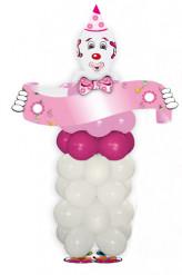 Rosa Clown-Ballon-Set