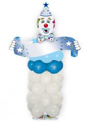 Blaues Clown-Ballon-Set