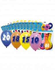 10 Luftballons bedruckt mit Zahl 50