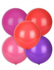 5 grossen Luftballons buntfarbig