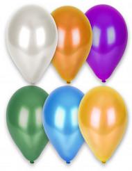 12 Luftballons  bunt 6-farbig Latex 28 cm