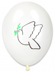 10 Friedenstauben-Luftballons