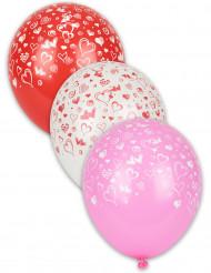 8 Luftballons Herzen