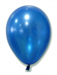 100 Metall-blaue Luftballons
