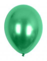 Grüne Metallic-Ballons 29 cm