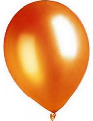 100 metallisch-orangefarbene Ballons
