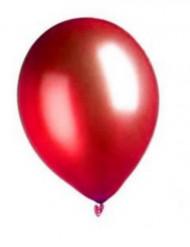 100 Luftballons metallic-rot