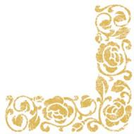 Goldene Papier Servietten