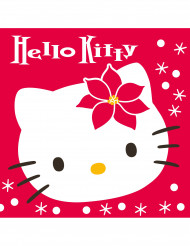 20 Hello Kitty™ Servietten Weihnachten