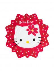8 kleine Teller Hello Kitty™ Weihnachten