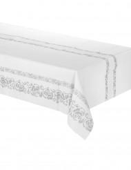 Tischdecke - silberne Arabesken