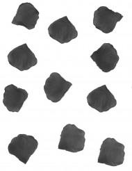 100 Rosenblätter aus schwarzem Stoff