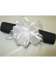 Geschenke-Schleifen aus Organza Verpackungsmaterial 6 Stück weiss 10cm