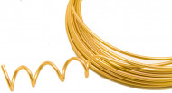 Aluminium-Raumdekoration Deko-Faden gold 500cm