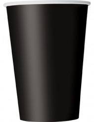 10 schwarze Becher 355 mL