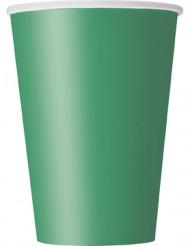 10 smaragdgrüne Pappbecher
