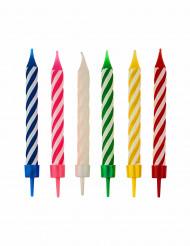 Kuchenkerzen Geburtstagskerzen 12 Stück bunt