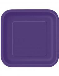 14 Pappteller - violett