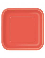 14 große rote Pappteller