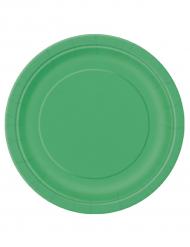 16 große Pappteller - smaragdgrün
