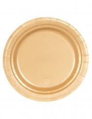 16 Pappteller gold 23 cm