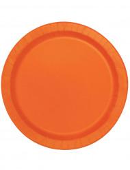 16 große Pappteller orange - rund