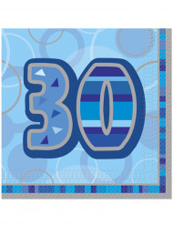 """16 """"30 Jahre"""" Papier Servietten"""