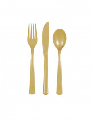 Goldfarbenes Plastikbesteck