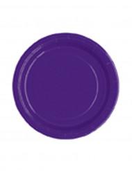 20 Pappteller klein - violett