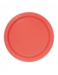 20 kleine rote Pappteller