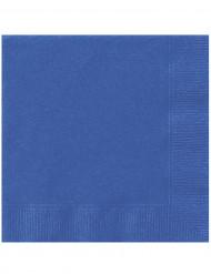 Schlichte Papierservietten 20 Stück blau 33x33cm
