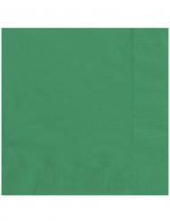 20 smaragdgrüne Servietten