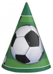 Fanartikel Fussball-Partyhüte 8 Stück grün-schwarz-weiss