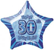 Blauer Stern-Ballon - 30.Geburtstag
