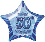 Blauer Stern-Ballon - 50.Geburtstag