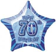 Luftballon in Sternenform 70. Geburtstag