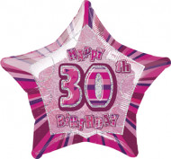 Rosa Stern-Ballon - 30.Geburtstag