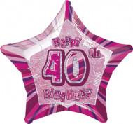Rosafarbener Ballon zum 40. Geburtstag
